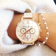 Olivia Burton Chrono big dial mink rose gold