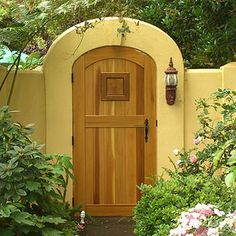 would love this garden gate as an entrance to my side yard.