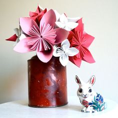 Baby shower bouquet Paper flower origami by MarmotaCafeWeddings, $65.00