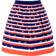 Oasis Bird Print Skirt