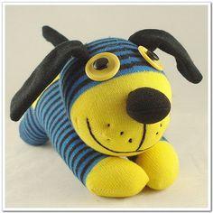 Handmade Sock Dog Stuffed Animal Doll Baby by supersockmonkeys, $11.99