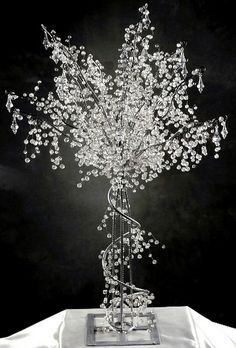 Crystal trees are luxurious decorative items that can be used as centerpieces.