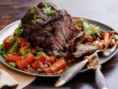 Pot Roast with Carrots, Shallots, Mint and Lemon from CookingChannelTV.com