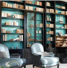 books and paper rolls decor
