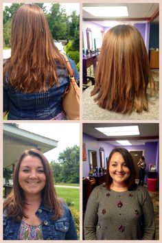 Highlight Lowlight haircut makeover both by Leslie Knox