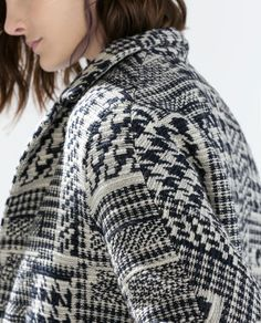PRINTED SHORT COAT WITH LAPELS-Coats-Outerwear-WOMAN | ZARA United States