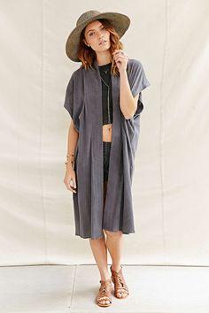 Urban Renewal Recycled Sleeveless Gauze Kimono Jacket
