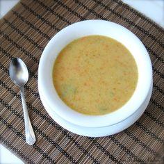 Carrot, celery, & potato cream soup - an easy lunch recipe!