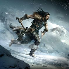 m Barbarian Medium Armor Cloak Battle Axe male Hills Conifer Forest Night Winter Snow Avalanche med The Elder Scrolls, Elder Scrolls Races, Elder Scrolls Skyrim, Elder Scrolls Online, Fantasy Character Design, Character Concept, Character Inspiration, Character Art, Character Sketches