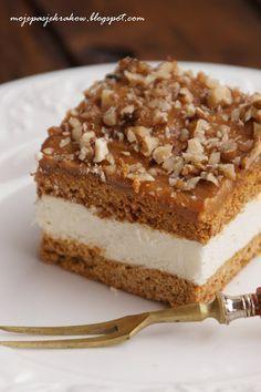 Ciasto toffi na miodowych blatach