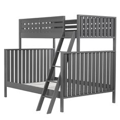 Cargo Twin Over Full Bunk Bed (Charcoal)  | The Land of Nod