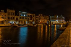 """City of Aveiro - Night in the city Aveiro also known by the """"Veneza"""" of Portugal"""