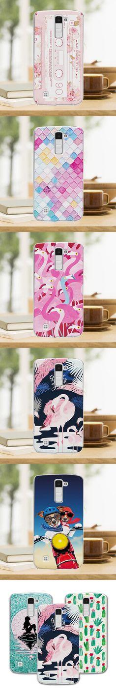"For LG K10 coque Mermaid Painting Hard Plastic Case For LG K10 K410 K420N 5.3"" Case Cover For LG M2 F670 Case"