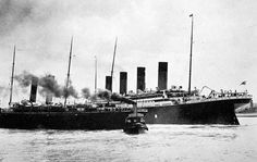 The Titanic leaving Southampton, England, April 10, 1912.