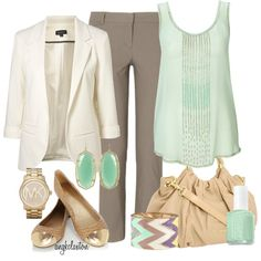 """""""Mint for Work"""" by angkclaxton on Polyvore"""