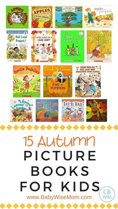 15 autumn picture books for kids. These picture book about autumn are great for your kiddos. These are great for preschoolers, toddlers, and children. #autumn #fall #booklist #picturebooks #fallbooks #fallpicturebooks #fallbooksforkids