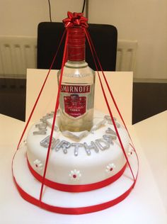 Vodka bottle Birthday cake