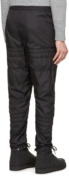 Alexander Wang Black Nylon Quilted Lounge Pants