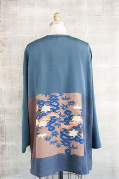 Lotus Shirt in Blue Floral Mix