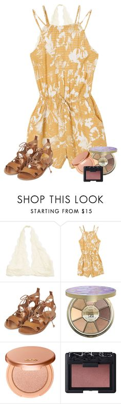 """LETS TAKE A QUICK STROLL ON THE BEACH"" by kenzie75 on Polyvore featuring RVCA, Topshop, tarte and NARS Cosmetics"