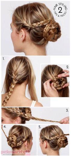 Yapımı oldukça basit sonucu pek klas saçmodellerinden birisi, kendim de çok sık yapıyorum :)