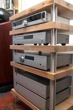 Hifi Rack, Audio Rack, Tv Rack, Hifi Stand, Audio Stand, Diy Hifi, Custom Computer Desk, Record Shelf, Stereo Cabinet