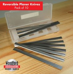10 X 82mm Carbide Planer Blades To Fit Black & Decker, Bosch, Dewalt, Elu Planes