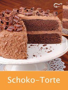 With this delicious recipe for a chocolate cake succeeds a fantastic pleasure .- Mit diesem leckeren Rezept für eine Schoko-Torte gelingt ein traumhafter Genuss… With this delicious recipe for a chocolate cake … - Chocolate Cake Recipe Easy, Chocolate Recipes, Cake Chocolate, Unique Cakes, Food Cakes, Easy Cake Recipes, Yummy Cakes, Vanilla Cake, Cake Decorating