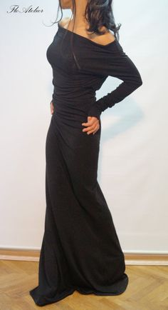 Hey, I found this really awesome Etsy listing at https://www.etsy.com/listing/205153261/long-sleeve-maxi-dresscasual-evening