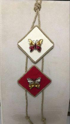 Crewel Embroidery, Air Dry Clay, Mandala Art, Art Projects, Butterfly, Drop Earrings, Jute, Jewelry, Dresses