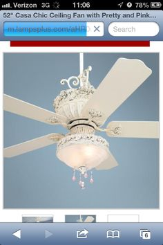 Shabby Chic Cieling Fan | My Dream Home | Pinterest | Shabby, Bedrooms And  Office Guest Rooms
