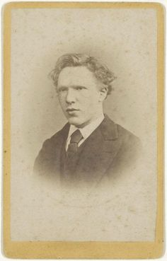 As we advance in life it becomes more and more difficult, but in fighting the difficulties the inmost strength of the heart is developed.  Vincent Van Gogh    Vincent Van Gogh at 19 years old.