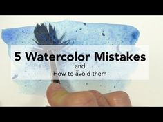 How to Blend Watercolor Paint Wet on Dry - YouTube