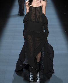 Vera Wang #see-through #long skirt #flowy