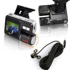 New model!Dual lens HD 720P Car Cam IR LED G sensor Video Camera Recorder Camcorder DVR