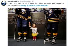 One of the most precious things I have ever seen! Not a Sabres or Scott fan, but this is an adorable picture. I love these hockey players.