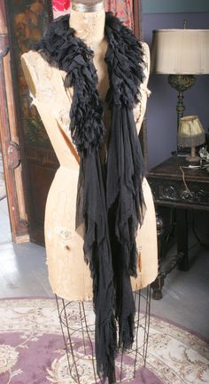 Season of the Witch collectio by Gypsy Moon  Feather Free Chiffon Boa