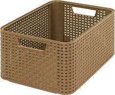 Košík Curver® STYLE2 M, mocca, 38x29x17 cm Plastic Laundry Basket, Hamper, Rattan, Modern, Home Decor, Style, Bedroom, Products, Luxury Decor