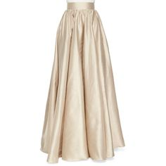 Jenny Packham Full Satin Ball Skirt ($2,875) ❤ liked on Polyvore featuring skirts, faldas, barley, long satin skirt, satin maxi skirt, pink skirt, a line skirt and pink a line skirt