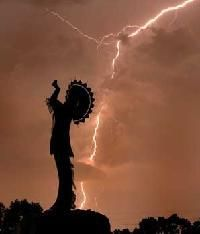 The Keeper of the Plains, Wichita, Kansas is a sculpture by Kiowa-Comanche artist Blackbear Bosin