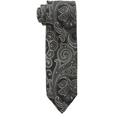 Etro 1T4254108 (Black) Ties ($270) ❤ liked on Polyvore featuring men's fashion, men's accessories, men's neckwear and ties