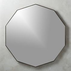 Mirrors - Geometric mirror shines bright within an antiqued brass metal frame. Large-scale angles make a shining statement in the living room or dining room. Brass, Black Medicine Cabinet, Modern Mirror Wall, Bath Mirror, Geometric Mirror, Geometric Wall, Home Decor Mirrors, Cb2, Mirror Set