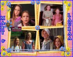 Mary Ingalls Kendall (Melissa Sue Anderson) & Laura Ingalls Wilder (Melissa Gilbert)