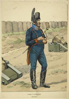French; Garde d'Artillerie 1812-14 by JOB