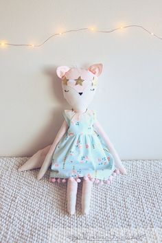 Fox Doll Pink by TheWinkingApple on Etsy