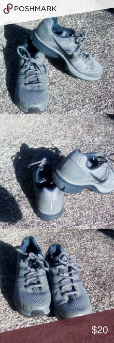 Nike shoes Size 7.5 blue and grey Nike fitsole 2 ...used only a few times excellent condition... Shoes Athletic Shoes