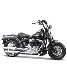 Miniatura Moto Harley-Davidson 2008 FLSTSB Cross Bone Maisto 1:18 - Machine Cult   A loja das camisetas de carro e moto