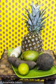 ideeën met yacón, waaronder gewoon door de yoghurt |  gemixt met mango, ananas, rettich en ramanas | door een raita | of op het laatst door een curry