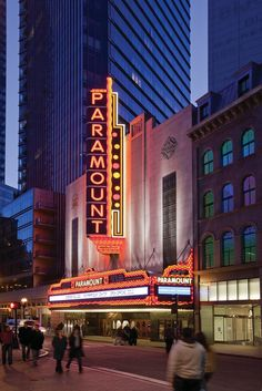 Paramount Theatre at Emerson College.              My dorm!