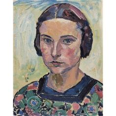 Cuno Amiet, Portrait of a Young Woman 1914